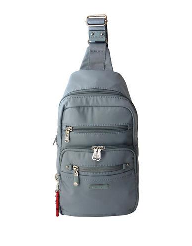Beside-U Abbott Lia RFID Protection Sling Backpack-BLUE-One Size