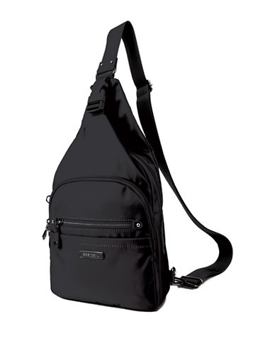 Beside-U Corcoran Lia RFID Protection Sling Backpack-BLACK-One Size
