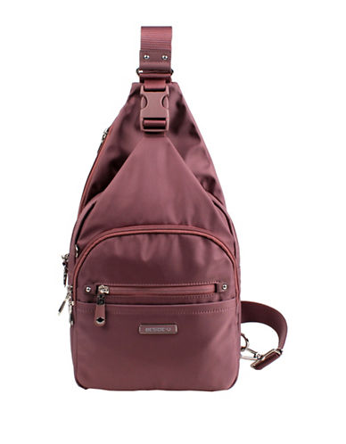 Beside-U Corcoran Lia RFID Protection Sling Backpack-TAUPE-One Size