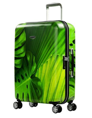 Eminent Leaf Printed 26-Inch Trolley Bag-GREEN-24