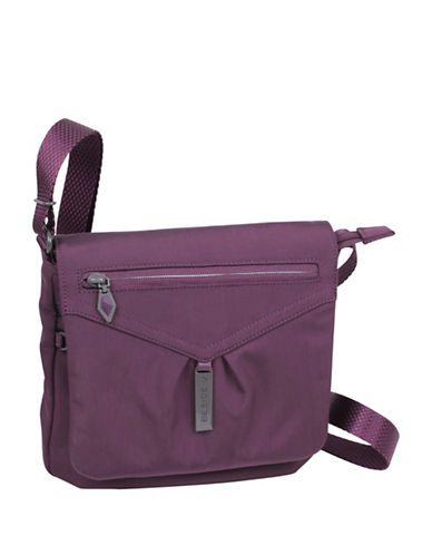 Beside-U Ella Panel-Flap Travel Crossbody Bag-PURPLE-One Size
