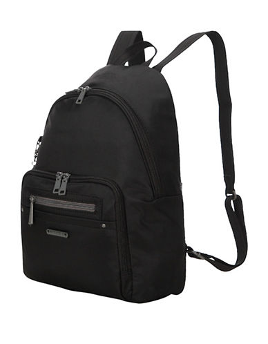 Beside-U Nutopia Belmont RFID-Protected Travel Backpack-BLACK-One Size