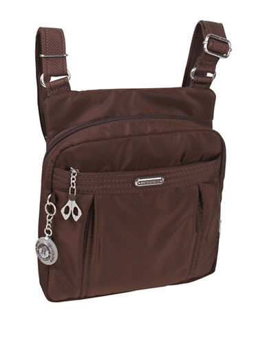 Beside-U Odile RFID-Protected Crossbody Bag-BROWN-One Size