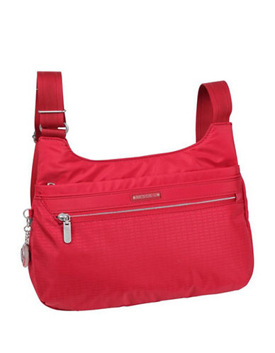 Beside-U Sevenoaks RFID Travel Crossbody Bag-RED-One Size