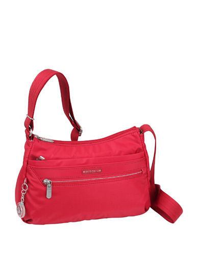 Beside-U Lilly RFID Travel Crossbody Bag-RED-One Size