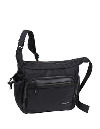 Beside-U Lindsey Black Travel Hobo Bag-BLACK-One Size