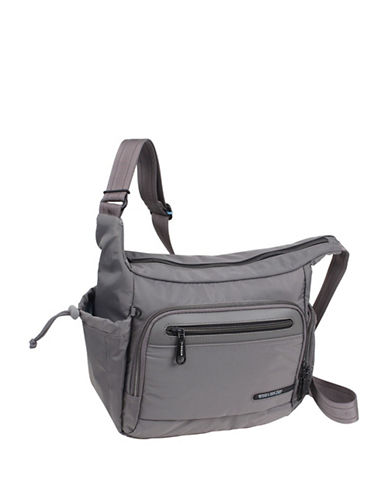 Beside-U Lindsey Black Travel Hobo Bag-GREY-One Size