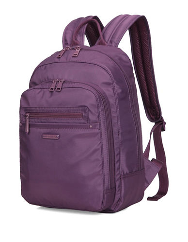 Beside-U Nutopia Westlake RFID Protected Travel Backpack-PURPLE-One Size