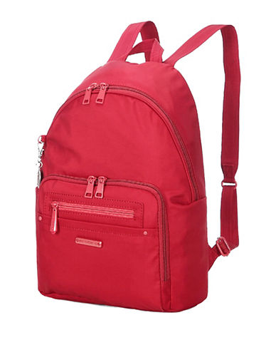 Beside-U Nutopia Belmont RFID-Protected Travel Backpack-RED-One Size