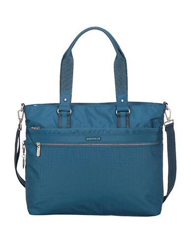 Beside-U Creed Luisa RFID-Protected Tote-BLUE-One Size