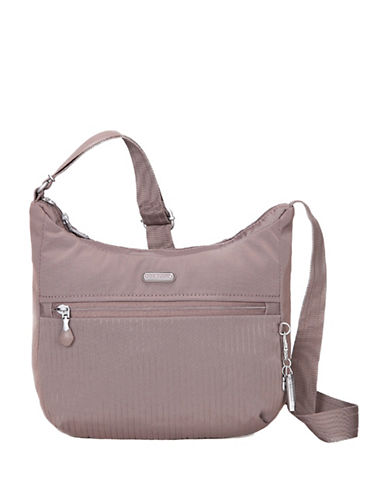 Beside-U Juliana RFID Protected Travel Hobo Bag-GREY-One Size