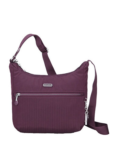 Beside-U Juliana RFID Protected Travel Hobo Bag-WINE PURPLE-One Size