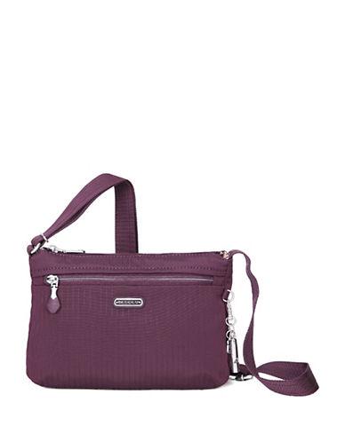 Beside-U Steph RFID Protected Travel Crossbody Bag-WINE PURPLE-One Size