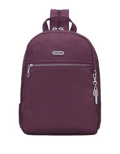 Beside-U Cherie RFID Protected Travel Backpack and Sling Bag-PURPLE-One Size