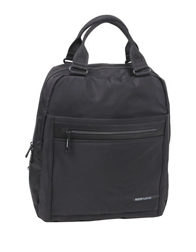 Beside-U Gertrude Black RFID Protected Travel Backpack-BLACK-One Size
