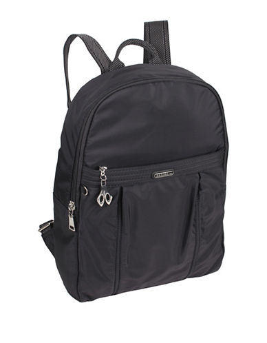 Beside-U Cross Kaylin Travel Backpack-BLACK-One Size