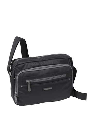 Beside-U Nutopia Keith Ripstop Travel Crossbody Bag-BLACK-One Size