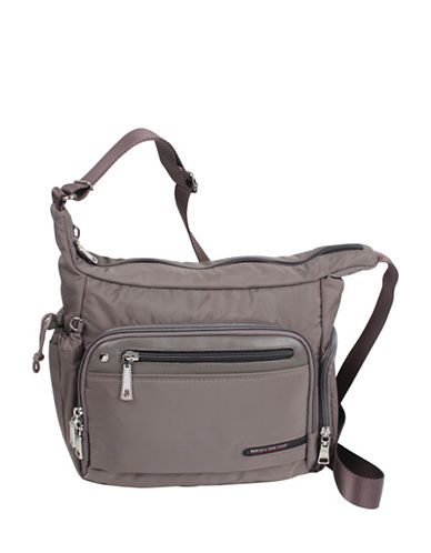 Beside-U Tube Connection Lindsey Puce Travel Hobo-GREY-One Size