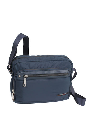 Beside-U Tube Connection Travel Crossbody Bag-BLUE-One Size
