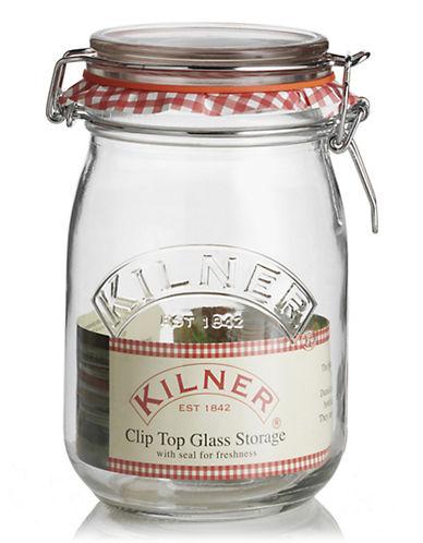 Kilner 1litre glass Cliptop Jar-NO COLOUR-One Size