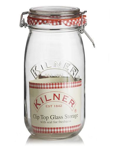 Kilner Glass Cliptop Jar-NO COLOUR-One Size