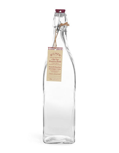 Kilner Clip Top Glass Preserve Bottle-CLEAR-One Size