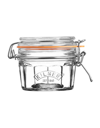 Kilner Facetted Clip Top 0.2L Jar-CLEAR-One Size