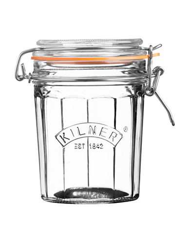 Kilner Facetted Clip Top 0.4L Jar-CLEAR-One Size