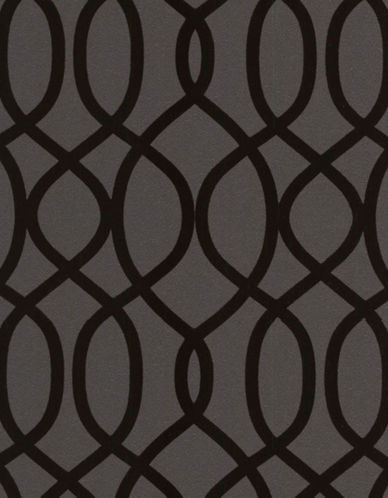 Graham And Brown 32-330 Knightsbridge Flock Noir Wallpaper-BLACK-One Size 89501967_BLACK_One Size