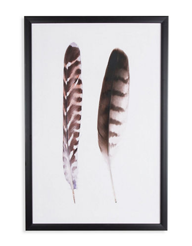 Graham And Brown 41-845 Feather Duo Framed-BLACK/WHITE-One Size