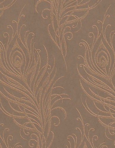 Graham And Brown 33-317 Quill Wallpaper-COPPER-One Size