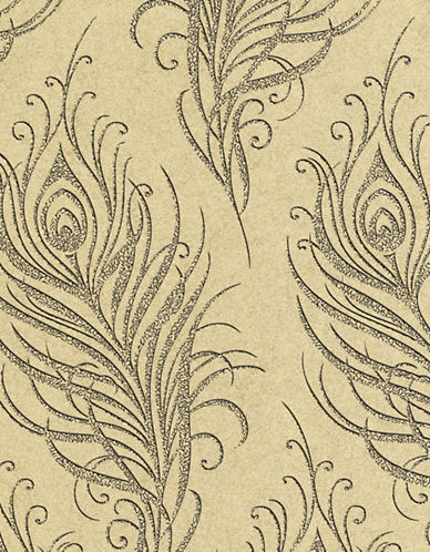 Graham And Brown 33-318 Quill Wallpaper-GOLD-One Size