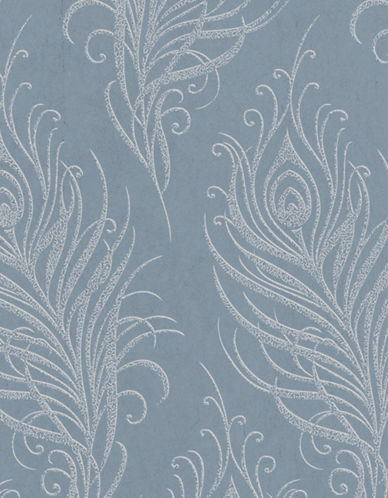 Graham And Brown 33-321 Quill Wallpaper-BLUE-One Size