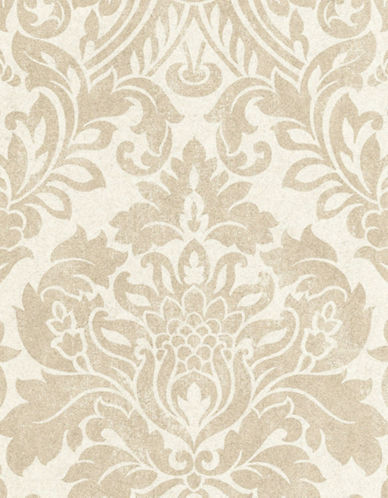 Graham And Brown 33-328 Gloriana Modern Damask Wallpaper-OYSTER-One Size