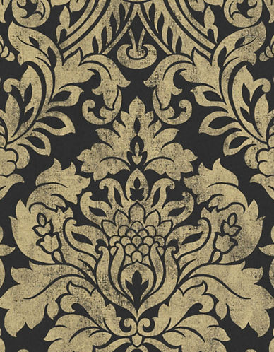 Graham And Brown 33-330 Gloriana Damask Wallpaper-GOLD-One Size