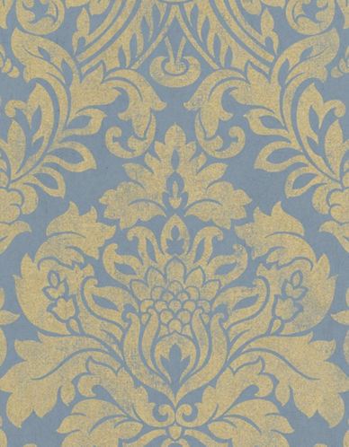 Graham And Brown 33-332 Gloriana Damask Wallpaper-BLUE-One Size