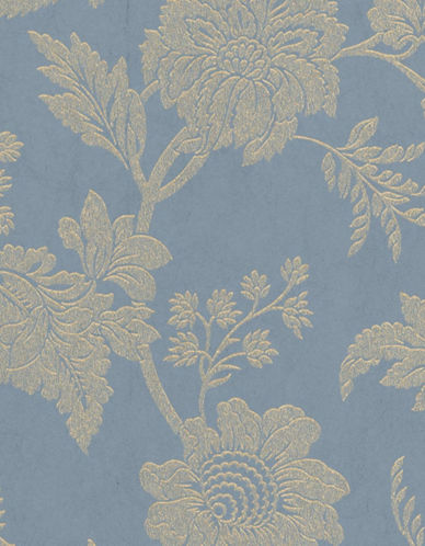 Graham And Brown 33-337 Mystique Floral Wallpaper-BLUE-One Size
