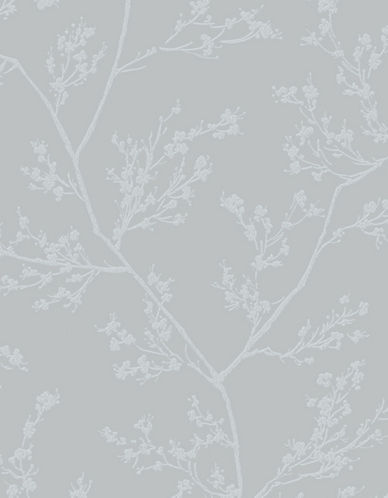 Graham And Brown 100506 Springtime Wallpaper-GREY/SILVER-One Size