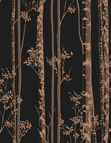 Graham And Brown 100525 Linden Wallpaper-BLACK/COPPER-One Size 89501980_BLACK/COPPER_One Size