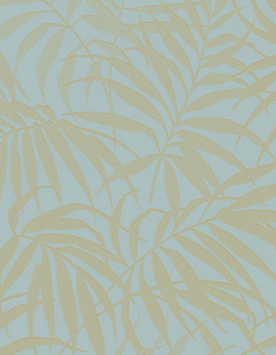 Graham And Brown 100531 Tropic Wallpaper-AQUA/GOLD-One Size