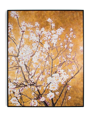 Graham And Brown 102417 Oriental Blossom Hand Painted Art-GOLD WHITE-One Size