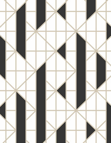 Graham And Brown 103001 Linear Wallpaper-BLACK/WHITE-One Size