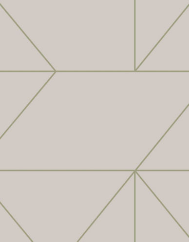 Graham And Brown 103005 Kellys Geo Wallpaper-TAUPE-One Size