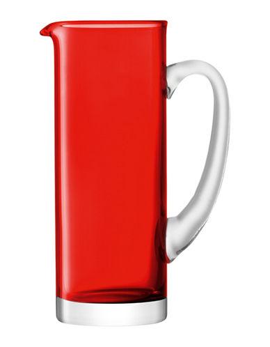Lsa International Basis Handmade Glass Jug-RED-One Size