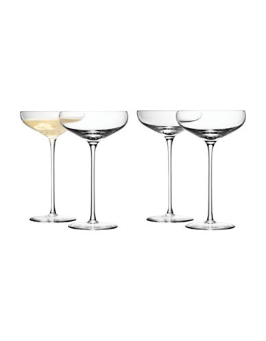 Lsa International Set of Four Wine Champagne Saucers-CLEAR-300 ml