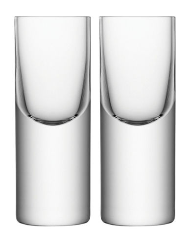 Lsa International Boris Set of Two Handmade Vodka Glasses-CLEAR-One Size