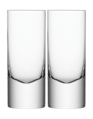 Lsa International Boris Set of Two Handmade Highball Glasses-CLEAR-One Size