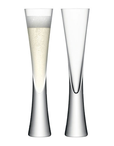 Lsa International Set of Two Moya Champagne Flutes-CLEAR-One Size