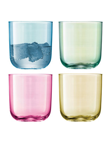 Lsa International Polka Set of Four Glass Tumblers-ASSORTED-One Size