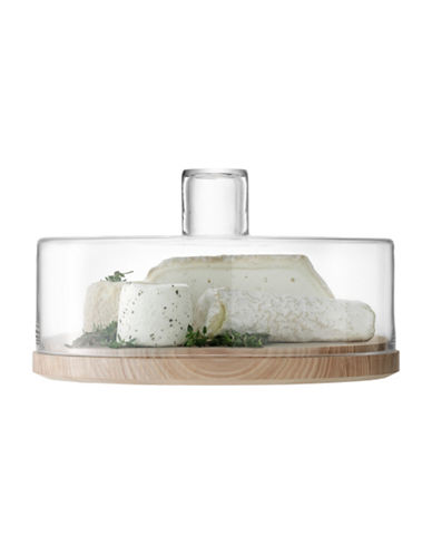 Lsa International Lotta Cheese Pastry Dome and Ash Base-CLEAR-One Size